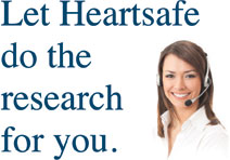 Let Heartsafe do the research for you